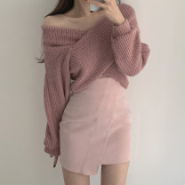 Fashion suit Winter 2020 Average size Pink sweater, khaki sweater, pink skirt s, pink skirt m, white skirt s, white skirt M 18-25 years old Other / other 51% (inclusive) - 70% (inclusive) cotton