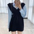 Fashion suit Winter 2020 Average size White shirt, black knitting skirt, apricot knitting skirt, gray knitting skirt, blue shirt 18-25 years old Viscose
