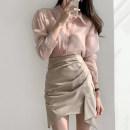 Fashion suit Autumn 2020 S,M,L One size pink shirt, one size blue shirt, Khaki Skirt, grey blue skirt 18-25 years old 71% (inclusive) - 80% (inclusive)