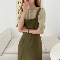 Fashion suit Summer 2021 S,M,L Off white shirt, green shirt, black shirt, black dress, off white dress, green dress 18-25 years old Other / other 71% (inclusive) - 80% (inclusive) cotton