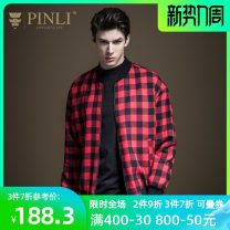 Jacket Pinli Fashion City Black and red, black and white M170,L175,XL180,XXL185,XXXL190 routine Self cultivation Other leisure autumn B193404375 Polyester 58.9% cotton 37.8% others 3.3% Long sleeves Wear out Baseball collar tide youth routine Zipper placket Rib hem Closing sleeve lattice