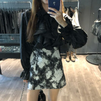 Fashion suit Autumn 2020 Note the options Black shirt, Skirt M, skirt s