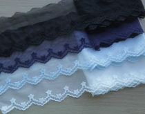 lace White black light blue navy