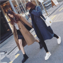 woolen coat Autumn of 2019 Average size Grey, camel, brown pre-sale other 31% (inclusive) - 50% (inclusive) routine Long sleeves commute A button routine tailored collar Straight cylinder Korean version Other / other 18-24 years old
