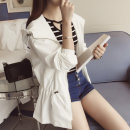 short coat Spring of 2018 Average size White, brown, pre-sale Solid color 18-24 years old Other / other