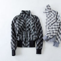 short coat Spring 2021 S / 8, 10 / L Black check, gray check Long sleeves routine routine singleton  Straight cylinder Versatile routine stand collar zipper lattice 18-24 years old Milazunil / mirazunil 96% and above pocket cotton cotton