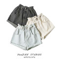 Jeans Summer 2021 Blue, off white, black XS,S,M,L shorts High waist Pencil pants routine White, old, washed light colour