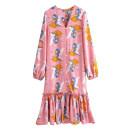 Dress Autumn of 2019 Decor S,M,L Mid length dress singleton  Long sleeves V-neck Cartoon animation