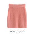 skirt Autumn 2020 S,M,L Pink, blue Short skirt street High waist High waist skirt Solid color Splicing Europe and America