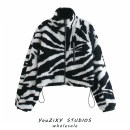 short coat Winter 2020 S,M,L Decor Long sleeves have cash less than that is registered in the accounts thickening singleton  easy street stand collar zipper Animal design
