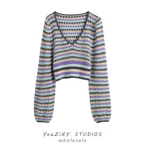 Wool knitwear Summer 2021 S,M,L Decor Long sleeves singleton  Cardigan other 71% (inclusive) - 80% (inclusive) have cash less than that is registered in the accounts routine street lattice Single breasted Printing, splicing Europe and America
