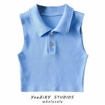 Vest sling Spring 2021 Blue, white, off white, green, purple, gray, black, khaki S, M singleton  routine Self cultivation street Solid color