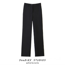 Casual pants Black, slightly thicker in autumn and winter S,M,L Autumn 2020 trousers Pencil pants High waist street routine Europe and America