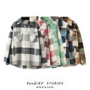 woolen coat Autumn 2020 XS,S,M,L Gray, brown, plaid, light pink, light green other 71% (inclusive) - 80% (inclusive) routine Long sleeves street Single breasted lattice Splicing Europe and America
