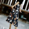 skirt Spring 2021 S,M,L,XL,2XL Floral print Mid length dress commute Natural waist Umbrella skirt other Type A 30-34 years old AF2008 More than 95% other other Simplicity