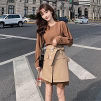 Fashion suit Autumn 2020 S,M,L,XL Brown 30% and below