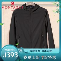 Jacket Montagut / montejiao Business gentleman black 48/170,50/175,52/180,54/185,56/190,58/195 routine standard go to work spring Polyamide fiber (nylon) 100% Long sleeves Wear out Hood Business Casual middle age routine Zipper placket 2020