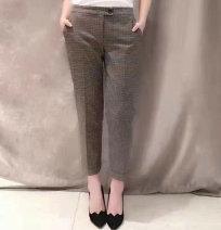 Casual pants Black, as shown in the picture 1 = XS, 2 = s, 3 = m, 4 = L, 5 = XL Spring 2021 Ninth pants Pencil pants Natural waist Versatile routine 51% (inclusive) - 70% (inclusive) Novel goldette other