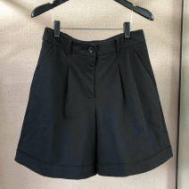 Casual pants black 1 = XS, 2 = s, 3 = m, 4 = L, 5 = XL Summer 2021 shorts Wide leg pants High waist Versatile routine 31% (inclusive) - 50% (inclusive) Pinge Dixin nylon nylon