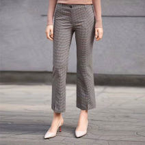 Casual pants Black, check 1 = XS, 2 = s, 3 = m, 4 = L, 5 = XL Spring 2021 Ninth pants Flared trousers Natural waist routine 81% (inclusive) - 90% (inclusive) Novel goldette other