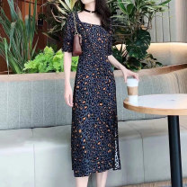 Dress Leopard Print Summer 2021 Other O'amash banner Middle-skirt Short sleeve singleton  commute other middle-waisted other routine More than 95% other other Ol style other 2 / s, 3 / m, 4 / L, 5 / XL