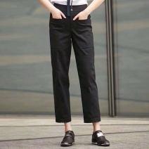 Casual pants 1 = XS, 2 = s, 3 = m, 4 = L, 5 = XL, 6 = XXL Spring 2021 Ninth pants Straight pants Natural waist Versatile routine 51% (inclusive) - 70% (inclusive) Professional amashite cotton cotton