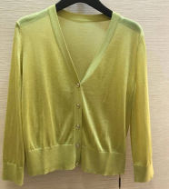 Wool knitwear Spring 2021 2 = s, 3 = m, 4 = L, 5 = XL Bright yellow, apricot, purple, white, green elbow sleeve singleton  Cardigan other 81% (inclusive) - 90% (inclusive) Regular Thin money commute Self cultivation V-neck routine Solid color Single breasted Ol style Pinge Dixin