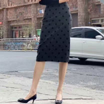 skirt Spring 2021 1 = XS, 2 = s, 3 = m, 4 = L, 5 = XL Dot Middle-skirt Versatile Natural waist skirt Dot Type H 30% and below other Professional amashite wool