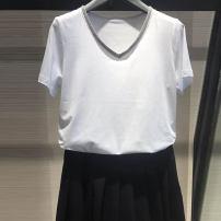 T-shirt Black V-neck, black crew neck, white crew neck, White V-Neck 2 = s, 3 = m, 4 = L, 5 = XL Summer 2021 Short sleeve V-neck Self cultivation Regular routine commute other 51% (inclusive) - 70% (inclusive) Ol style Pinge Dixin