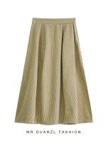 skirt Autumn 2020 80-120 Jin Apricot, black, coffee Mid length dress Versatile High waist A-line skirt Solid color Type A 18-24 years old zipper