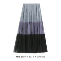 skirt Spring 2021 80-120 Jin Turquoise, turquoise, coffee Mid length dress fresh High waist Splicing style other Type A 18-24 years old Splicing
