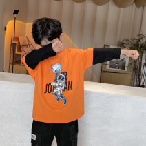 T-shirt Orange Haima house 110cm,120cm,130cm,140cm,150cm,160cm male spring and autumn Long sleeves Crew neck Korean version There are models in the real shooting nothing cotton Cartoon animation Cotton 93% polyurethane elastic fiber (spandex) 7% Class B 2, 3, 4, 5, 6, 7, 8, 9, 10, 11 Chinese Mainland