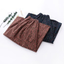skirt Autumn of 2019 Average size Mid length dress commute Natural waist Umbrella skirt Broken flowers Type A 81% (inclusive) - 90% (inclusive) Other / other cotton