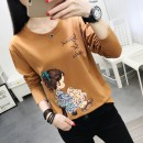 T-shirt M L XL 2XL 3XL 4XL 5XL Long sleeve Fall of 2018 Round neck Conventional models Loose conventional Commuting cotton 18-24 years old 86% (inclusive) - 95% (inclusive) Creativity Korean version Autumn Shadow ninety-eight thousand two hundred and eighty-nine Printing Embroidery