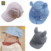 Hat 44, 46, 48 Grey wave point cap, bow cap lnebz36609, baby cowboy cap, gentleman stripe cap lqgbz20411 Code by head circumference neutral Headgear Shopping Labi baby / Rabbi No eaves blending Spring 2020 Chinese Mainland