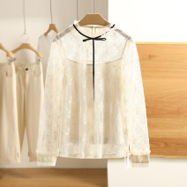 Lace / Chiffon Spring 2021 Black, off white, off white (without interior), black (without interior) XS,S,M,L,XL,XXL Long sleeves Two piece set easy Regular Other / other S011022C60