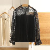 Lace / Chiffon Spring 2021 black S,M,L,XL,XXL Long sleeves singleton  easy Regular Other / other