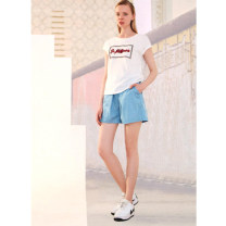 Casual pants Zhangqing, denim blue S,M,L,XL Summer 2021 shorts routine 31% (inclusive) - 50% (inclusive) O23K070 Other / other polyester fiber