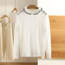 Wool knitwear Spring 2021 S,M,L,XL,XXL Black, pearl white Long sleeves other 51% (inclusive) - 70% (inclusive) Regular routine Socket Other / other