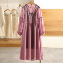 Dress Spring 2021 Black, haze purple, black (no interior) S,M,L,XL,XXL Mid length dress Two piece set Long sleeves Type A Other / other B2005639 More than 95% polyester fiber