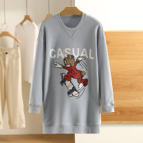 Sweater / sweater Spring 2021 Blue, pink XS,S,M,L,XL,XXL Long sleeves Medium length singleton  routine 96% and above Other / other cotton S021220Z70