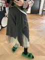 skirt Winter 2020 XS,S,M,L,XL,2XL Black, gray Mid length dress street Natural waist Type A OG030453 MONARTW Europe and America