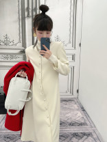 Dress Winter 2020 Blue, gray, red, Navy, beige, pink XS,S,M,L,XL Mid length dress singleton  Long sleeves street Others Type A MONARTW OQ037074 Europe and America