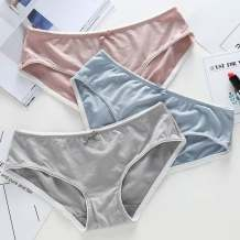 underpants female One size fits all Other / other 4 cotton Briefs low-waisted Sweet Solid color youth 41% (inclusive) - 60% (inclusive) Cotton fabric No trace bow