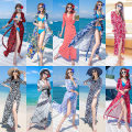 Dress Winter of 2019 S,M,L,XL longuette singleton  elbow sleeve Sweet V-neck Loose waist Decor other Big swing routine 25-29 years old Type A Other / other Bandage, print Bohemia