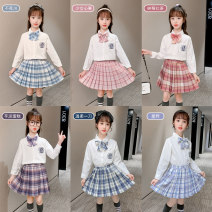 student uniforms Spring 2020, autumn 2020 110,120,130,140,150,160,170 Long sleeves Korean version skirt Under 17 Other / other other 91% (inclusive) - 95% (inclusive)