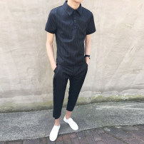 Casual pants Others Youth fashion S for 85-100kg, m for 100-115kg, l for 115-130kg, XL for 130-145kg, XXL for 145-160kg routine Shorts (up to knee) sandy beach easy summer teenagers tide