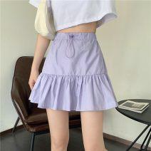 skirt Spring 2021 S,M,L White, purple, black Short skirt High waist A-line skirt