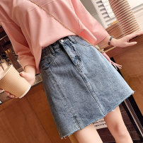 skirt Summer 2021 S M L XL blue Short skirt Versatile High waist A-line skirt Solid color Type A 18-24 years old YCL95986 More than 95% Denim Yichun Road other Button Other 100% Pure e-commerce (online only) 201g / m ^ 2 (including) - 250G / m ^ 2 (including)
