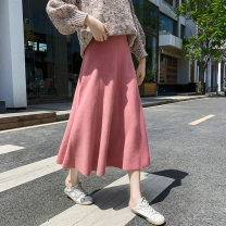 skirt Autumn 2020 Average size Black grey flower apricot deep coffee black apricot flower Khaki grey Caramel Mid length dress Versatile High waist A-line skirt Solid color Type A 25-29 years old YCL93317-1 More than 95% knitting Yichun Road other Other 100% Pure e-commerce (online only)